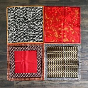 Esprit Accessories - ESPRIT Silk scarf 33 x 33, geometric patterns